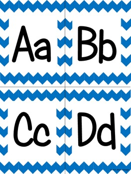 Blue Chevron Alphabet (small)