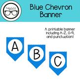 Blue Chevron Banner