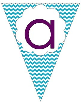 Blue Chevron Banner for Objectives or Template