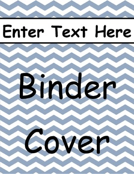 Blue Chevron Binder Cover