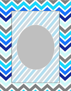 Blue Chevron Binder Cover