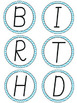 Blue Chevron Birthday Board