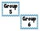 Blue Chevron Calendar Labels
