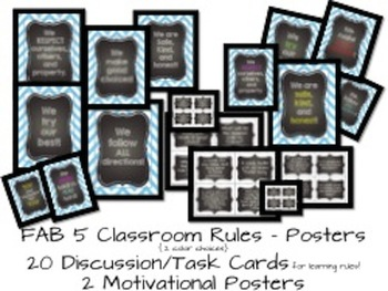 Blue Chevron & Chalk {EDITABLE Classroom Starter Kit} Back to School Printables