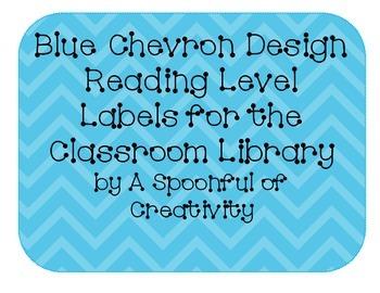 Blue Chevron Design Reading Level Labels