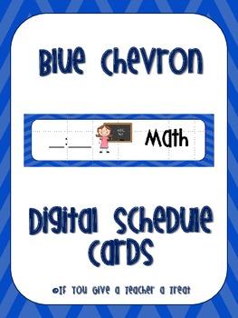 Schedule Cards- Blue Chevron Digital