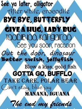 Blue Chevron Good Bye Poem/Song