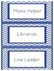 Blue Chevron Job Chart
