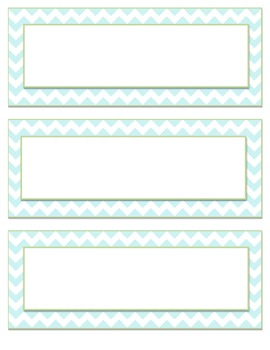 Blue Chevron Labels