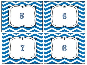 FREEBIE Blue Chevron Labels 1-32