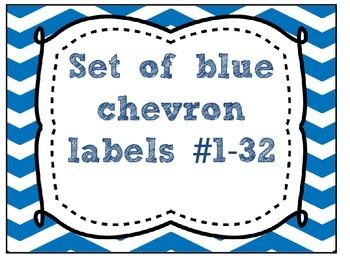 [FREEBIE] Blue Chevron Labels 1-32