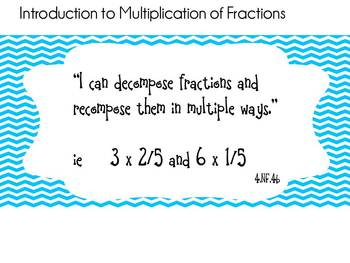 """Blue Chevron Learning Target """"I can"""" Statements-4th Grade Math CCSS"""