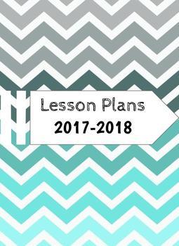 Blue Chevron Lesson planner