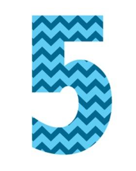 Blue Chevron Letters