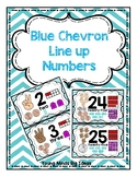 Blue Chevron Line up Numbers