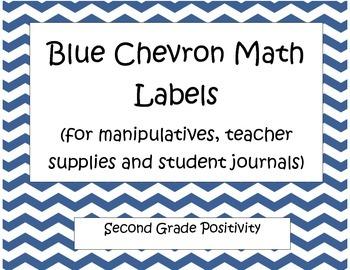 Blue Chevron Math Labels