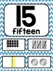 Blue Chevron Number Posters 0-20