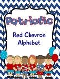Blue Chevron Patriotic Alphabet