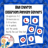 Blue Chevron Pennant Banner - letters, numbers, and symbols