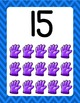 Blue Chevron Posters Alphabet Numbers, Colors and Shapes