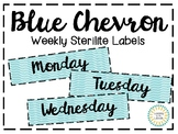 Blue Chevron Sterilite Labels (3 Drawer)