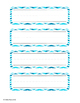 Blue Chevron Word Wall