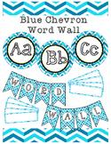 Blue Chevron Word Wall