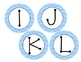 Blue Chevron circle ABC letter labels