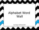 Blue Chevron classroom alphabet