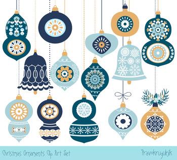 blue christmas tree ornaments clipart collection christmas ornaments set - Blue Christmas Tree Ornaments