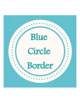 Blue Circle Banner