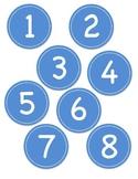 Blue Circle Number Labels 1 - 30