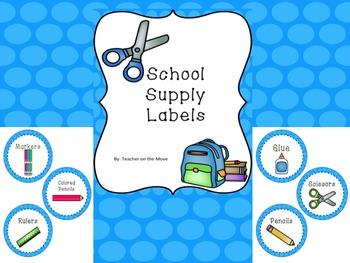 Blue Circle Supply Labels