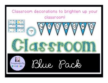 Blue Classroom Decor Pack