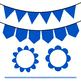 Blue Clip Art Set - Borders, Frames, Banners & Page Divider