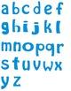 Alphabet Letters Clipart - Blue