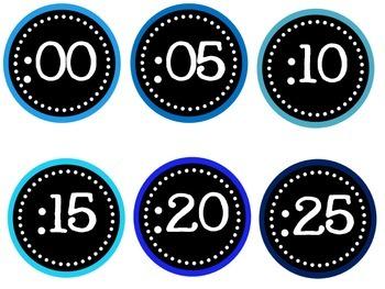 Blue Clock Labels