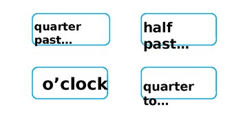 Blue Clock Labels editable