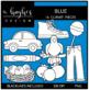 Blue Color Clipart {A Hughes Design}