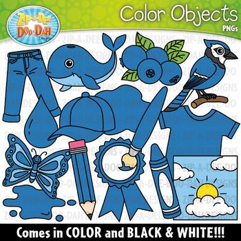 Blue Color Objects Clipart {Zip-A-Dee-Doo-Dah Designs}