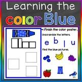 Blue Color Recognition Color Word Boom Cards (Learning Col
