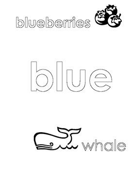 Blue Color Sheet