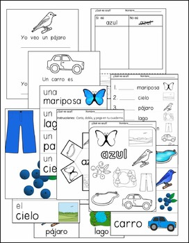 Blue Color Unit in English and Spanish