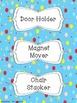Blue Colorful Polka Dot Classroom Jobs