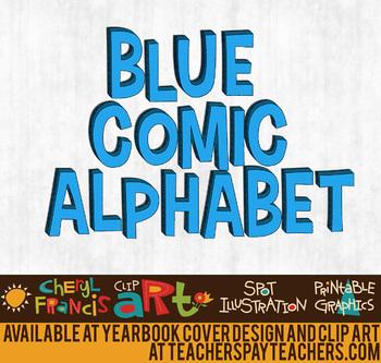 Comic Alphabet Blue