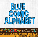 Comic Alphabet Blue
