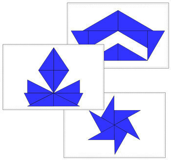 Blue Constructive Triangles - Design Cards