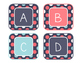 Blue Coral Decor: Alphabet Labels