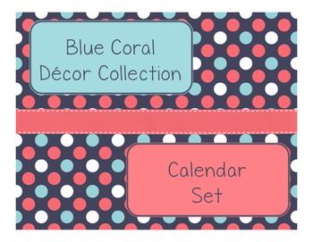 Blue Coral Decor: Calendar Set