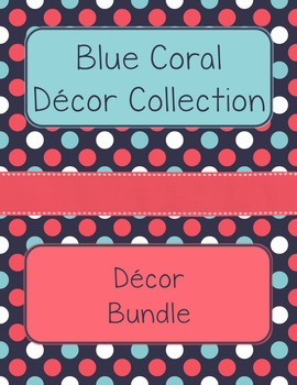 Blue Coral Decor: Decor Bundle